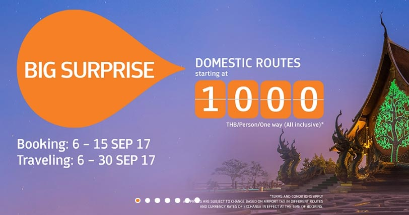 domestic flights thailand 25€