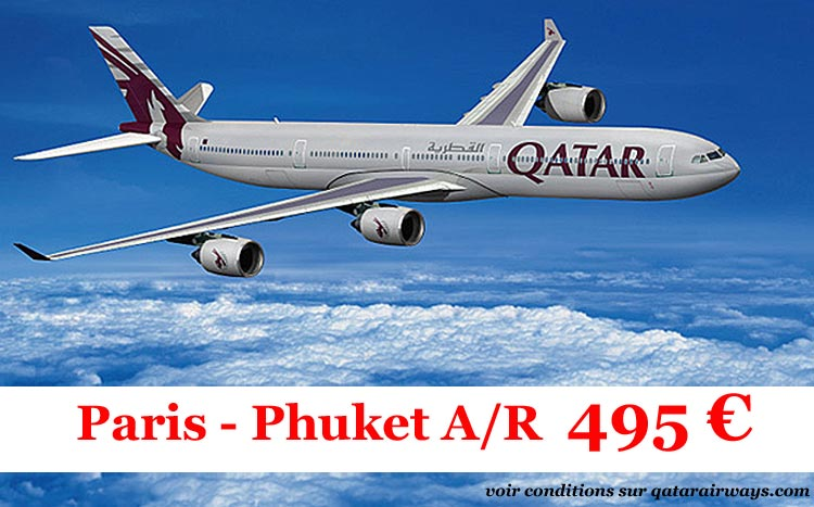 billet avion aps cher paris - phuket aller retour