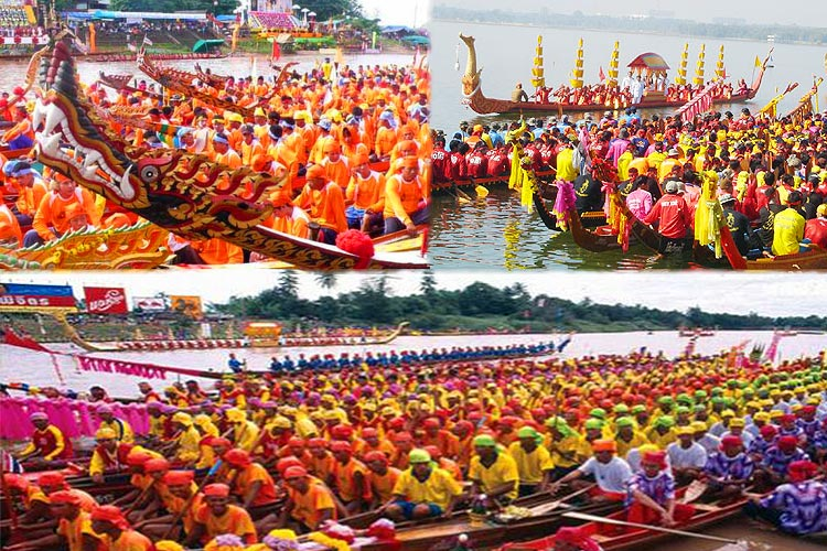 Traditional boat races thailand