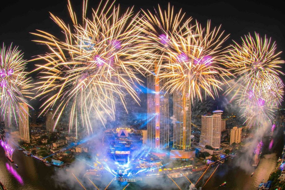 feu artifice bangkok nouvel an