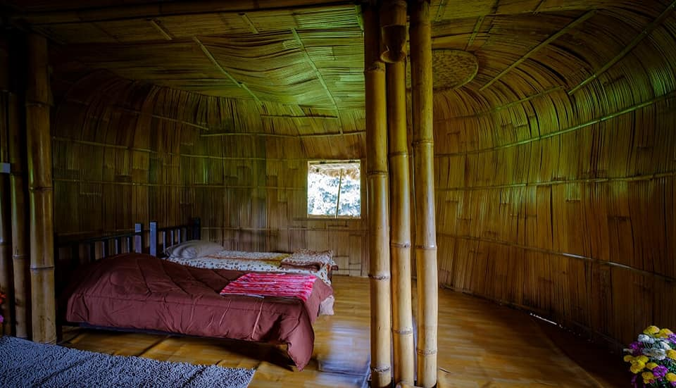 giant bamboo hut thailand