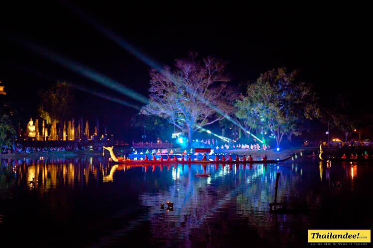free sound and light shows at sukhothai historical park