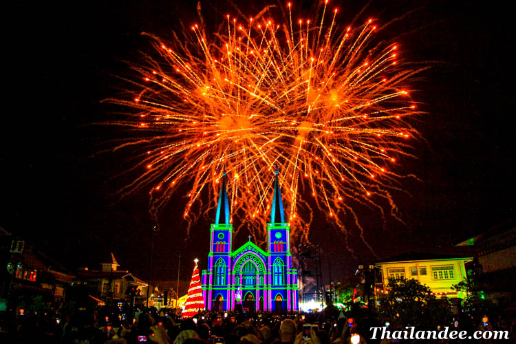 chanthaburi miracle christmas, biggest chirstmas festival in thailand