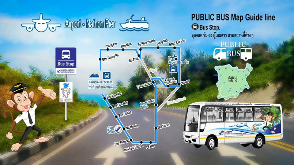 plan bus koh Samui