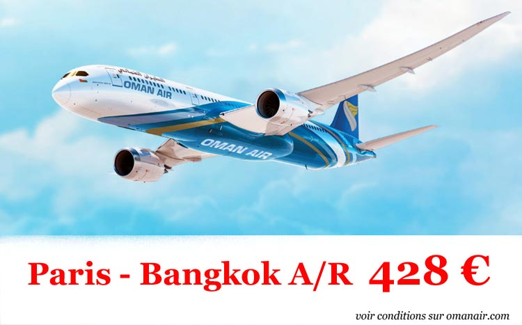 promo avion paris bangkok 428 euros