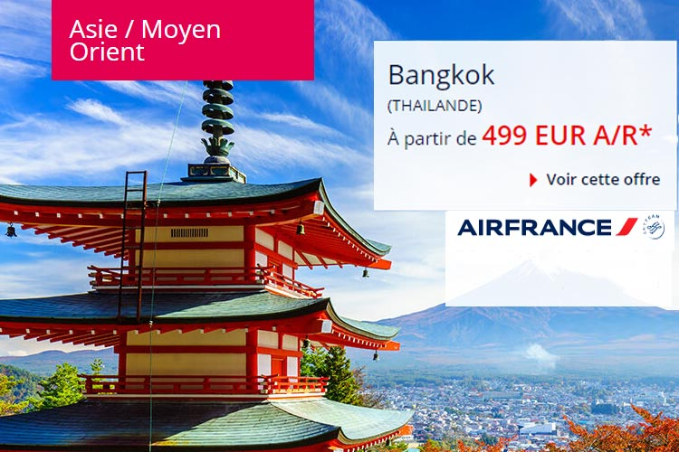 promo avion paris bangkok vols direct