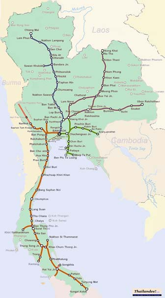 carte trains thailande