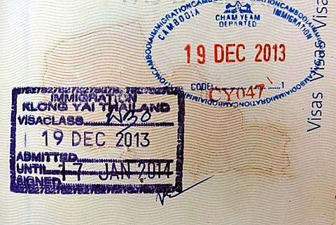 Visa passport thailand