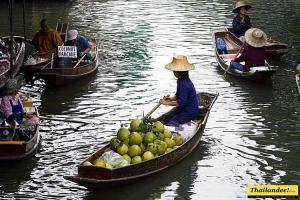marches flottants thailande