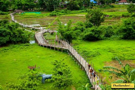 Su Thong Pae bamboo bridge Mae Hong Son